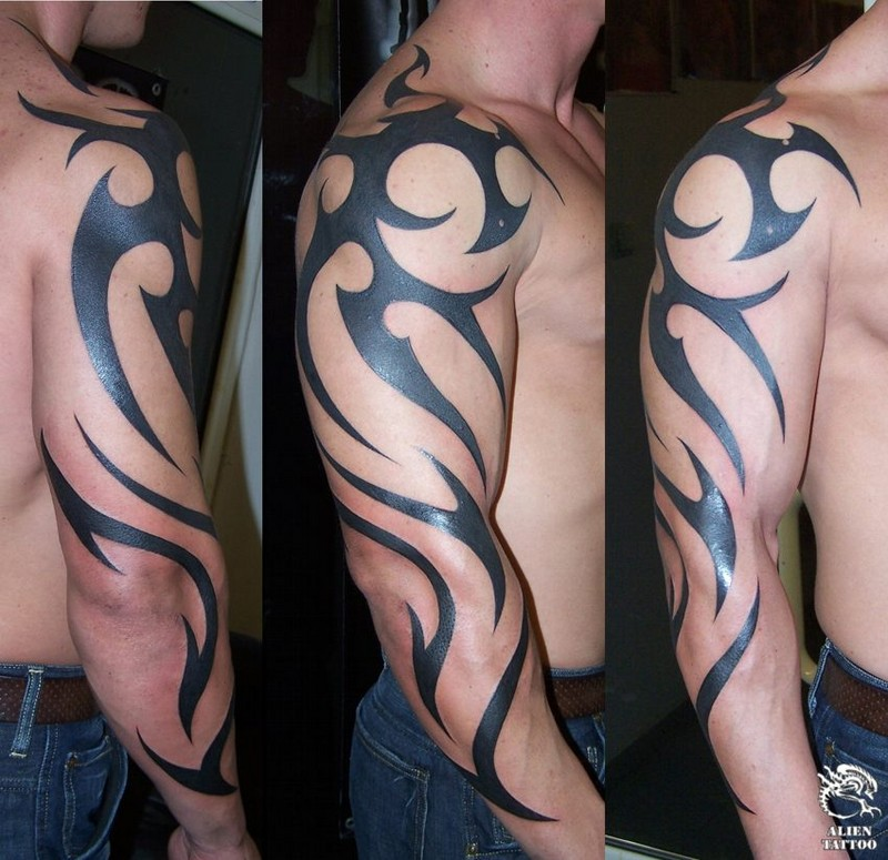 tribal and tattoos arm back 0011 KB ncp.jpg tribal 215261 140.37 tattoos arm