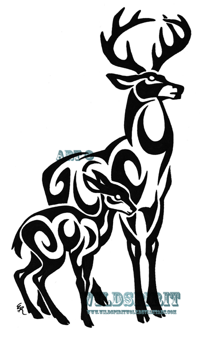 tribal tattoos animals Hirsch)  ( Tattoo Gutschein Dennis Einen  Gewinne